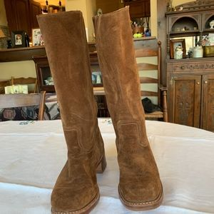 FRYE CAMPUS 14L Brown Suede Boots
